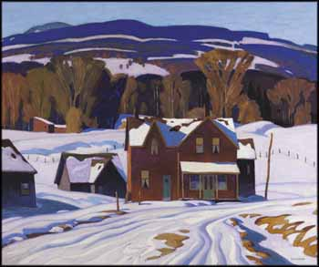 Country House in Winter by Alfred Joseph (A.J.) Casson
