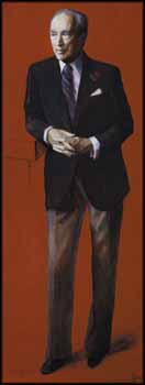 Portrait of Pierre Elliott Trudeau by Myfanwy Spencer Pavelic