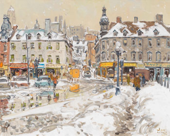 Opposite Gare du Palais, Quebec by John Geoffrey Caruthers Little