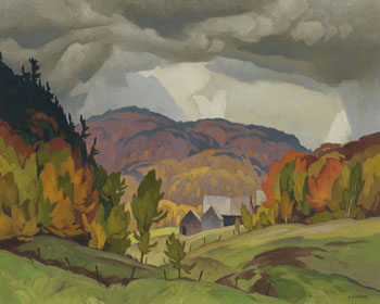 Farm on the Kilmer Road, Quebec by Alfred Joseph (A.J.) Casson