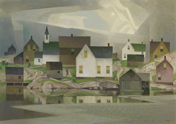 Old Lumber Village by Alfred Joseph (A.J.) Casson
