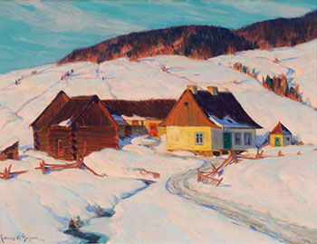 Late Afternoon Sun (House and Brook) by Clarence Alphonse Gagnon