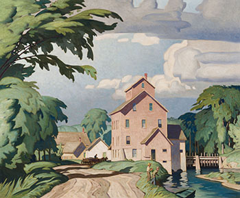 The Village Mill by Alfred Joseph (A.J.) Casson