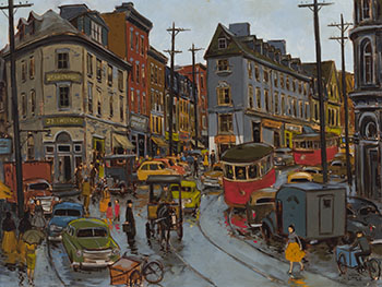 Rue Fabrique, Quebec by John Geoffrey Caruthers Little