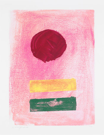 Pink Ground by Adolph Gottlieb