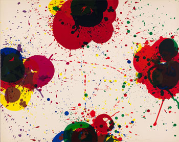 Red Again by Sam Francis