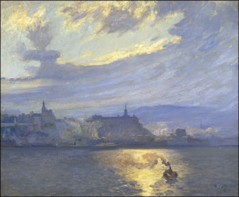 The Ferry, Quebec by Maurice Galbraith Cullen