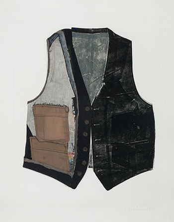 Vest Nine with Collage by Betty Roodish Goodwin