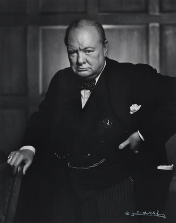 Sir Winston Churchill by Yousuf Karsh