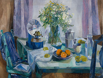 Still Life with Flowers and Oranges by Betty Roodish Goodwin