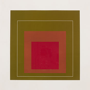 White Line Square IV by Josef Albers