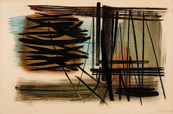 T1950-57 by Hans Hartung